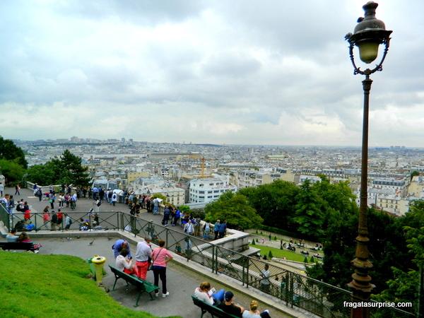 Paris vista do bairro de Montmartre