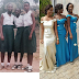 Nigerian ladies share throwback photos from high school and compare them to now
