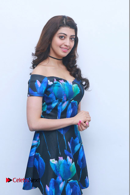 Actress Praneetha Latest Stills in Floral Short Dress at Enakku Vaaitha Adimaigal Press Meet  0002.jpg