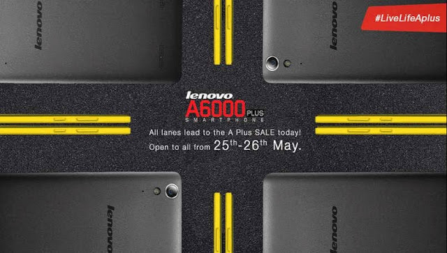 Lenovo A6000 Plus to be available in open sale on Flipkart for two days beginning today