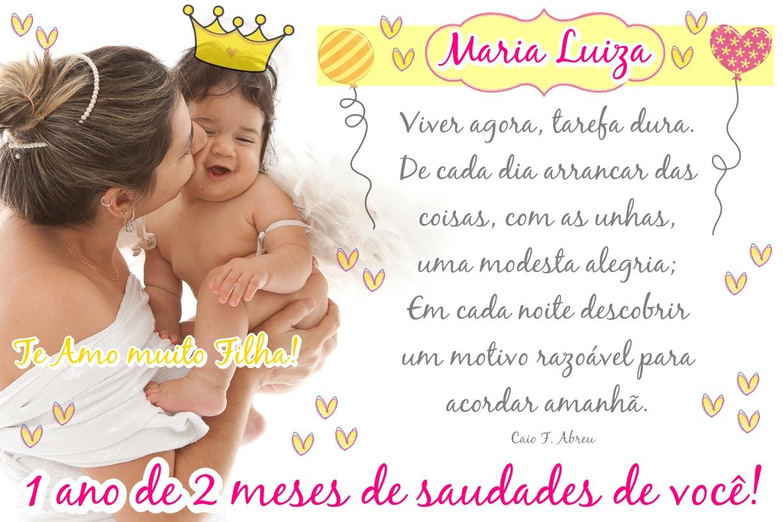 Maria Luiza, Meu Anjo.: Abril 2013