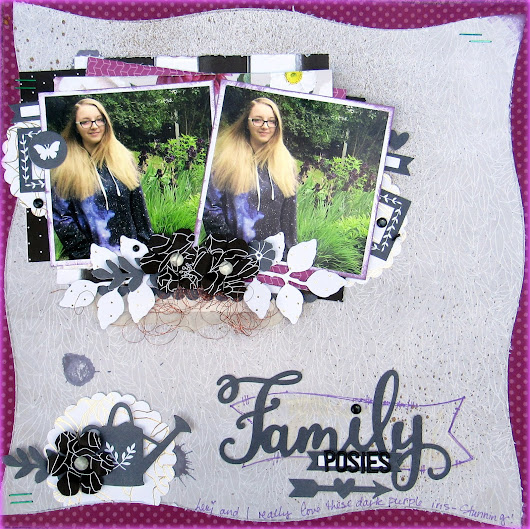 Family Posies Scrapbook Page with Sketchabilities