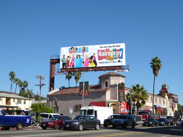 Hairspray Live billboard