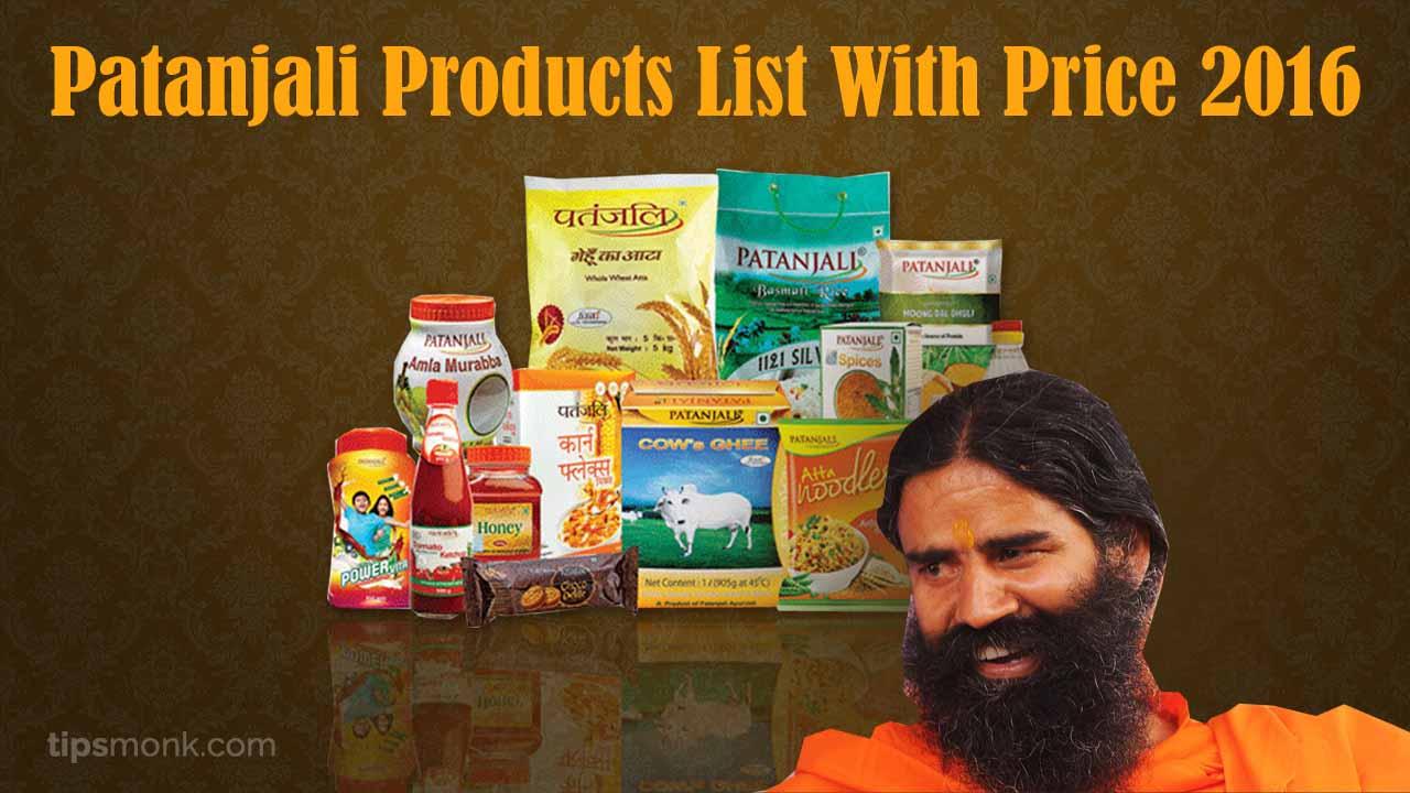 Patanjali Products Price List Pdf