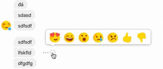 Facebook's  Dislike Button in Messenger