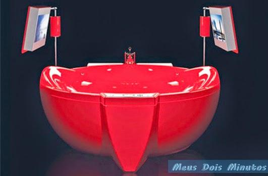 banheira vermelha