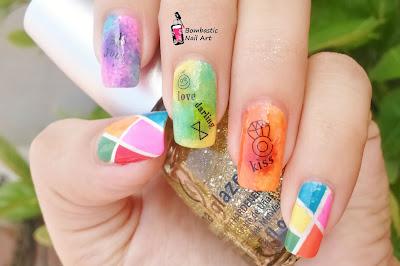 Love kiss nail art