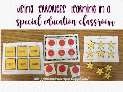 Using Errorless Learning in a Special Education Classroom
