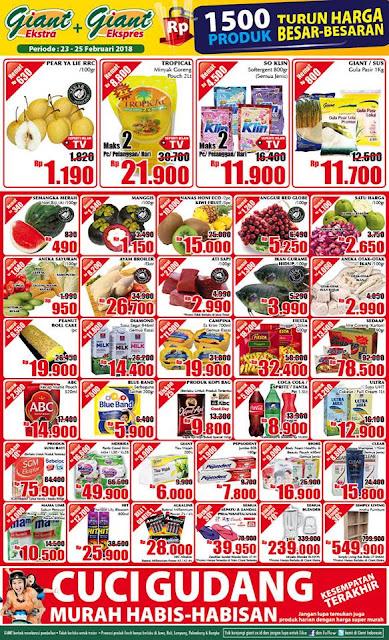 Katalog Promo GIANT Ekspres GIANT Ekstra Akhir Pekan Periode 23 - 25 Februari 2018