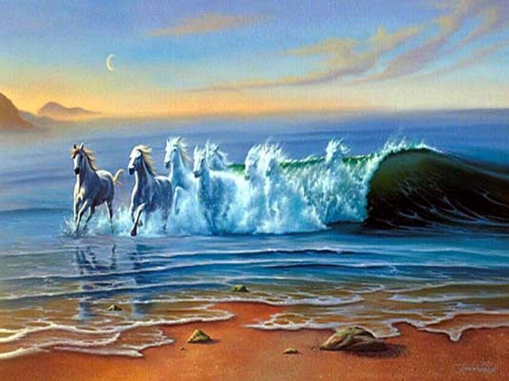 Águas Selvagens - Jim Warren pinta sonhos e ilusões de maneira fantástica.