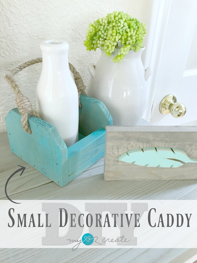 How to Make a Small Decorative Caddy with a full picture tutorial at MyLove2Create