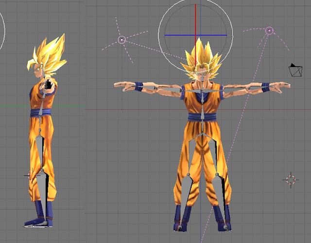 3d Goku 3d Cake Image