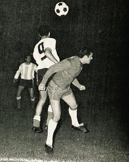 Chile y Argentina en partido amistoso, 28 de mayo de 1969