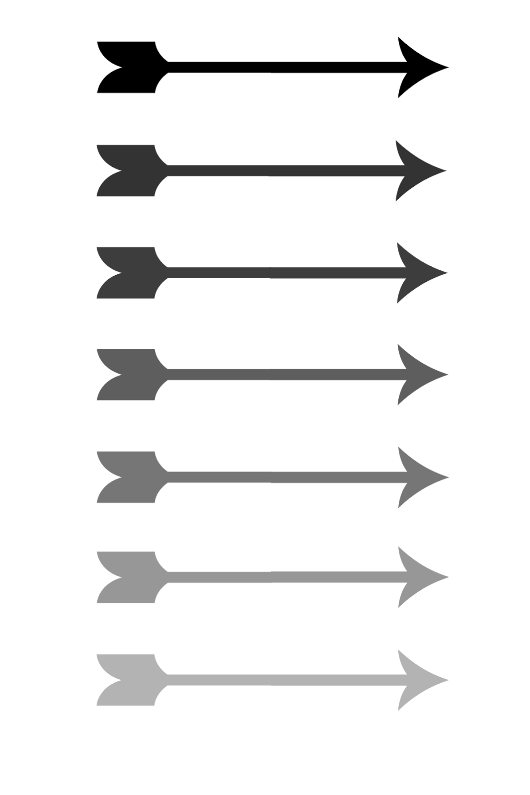 picture regarding Free Printable Arrows identified as Craft A Spell: Ombre Arrow Free of charge Printable
