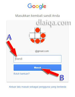 input password akun Gmail