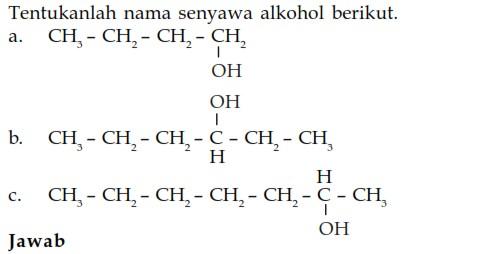 Tata Nama Alkohol Rantai Lurus