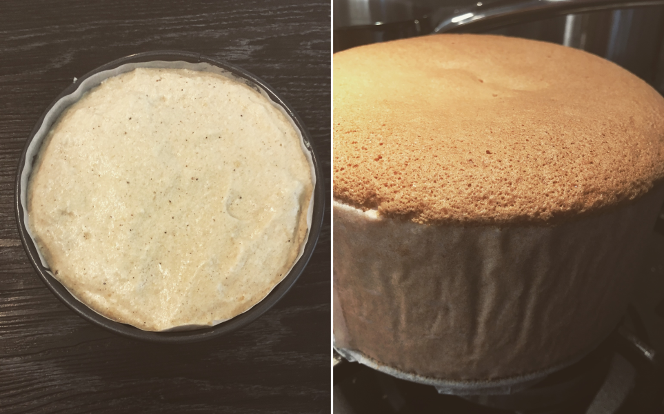 Pečení vanilkového korpusu