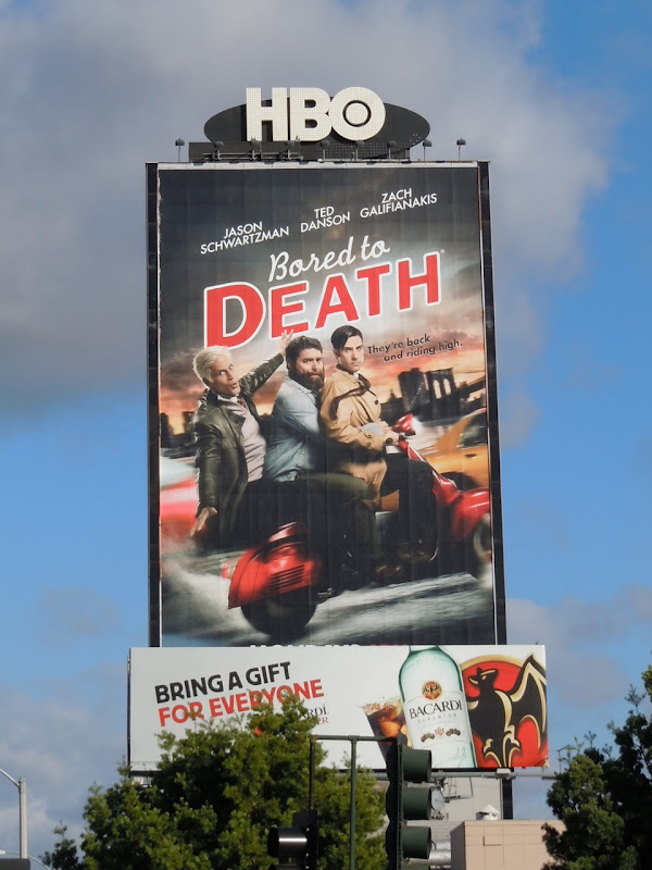 Bored to Death season 3 TV billboard