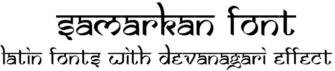 Download Samarkan Font Normal Oblique
