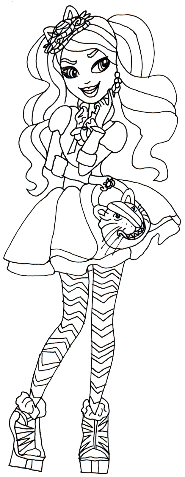 Coloring Pages Ever After High Madeline Cheshire