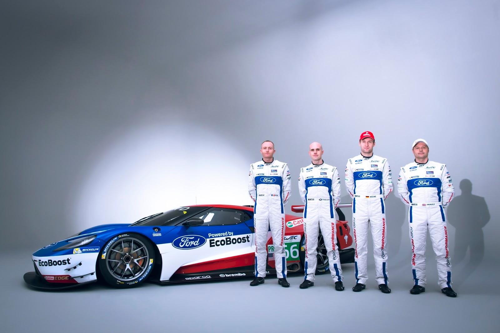 Η Ford με το GT Race Car επιστρέφει στους αγώνες αντοχής και μας παρουσιάζει τους οδηγούς της Ford, Ford GT, World Endurance Championship