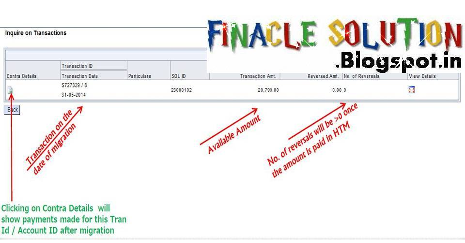 Interest Payment of Branch Office Account in DOP Finacle