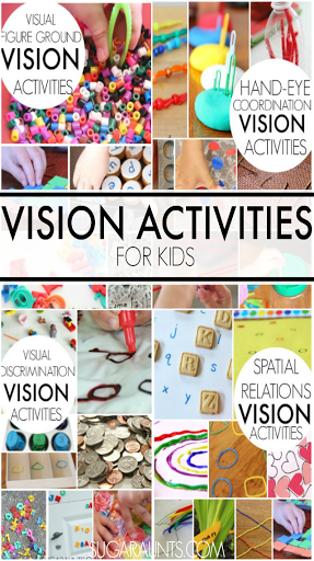 Vision activities for kids. This blog has so many ideas!