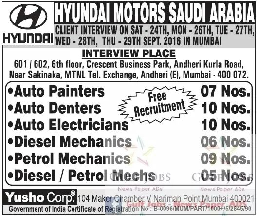Gulf Jobs For Malayalees September 2016