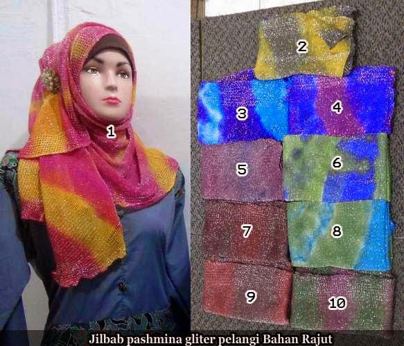 jilbab pashmina giltter pelangi