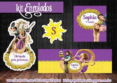 Kit Enrolados rapunzel
