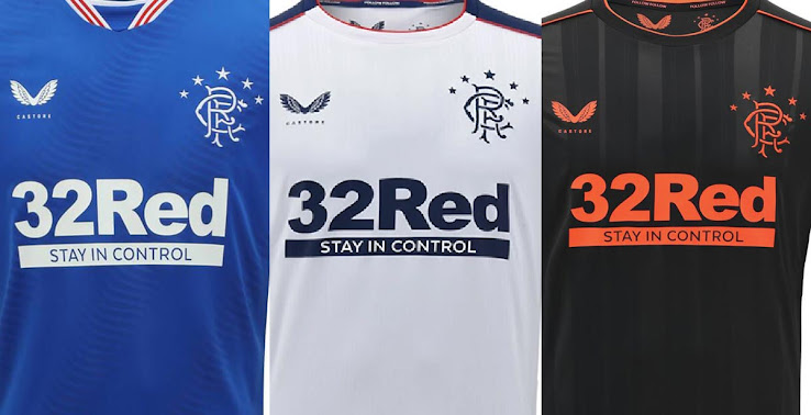 Castore Rangers 20-21 Home, Away & Third Kits Released - Footy ...