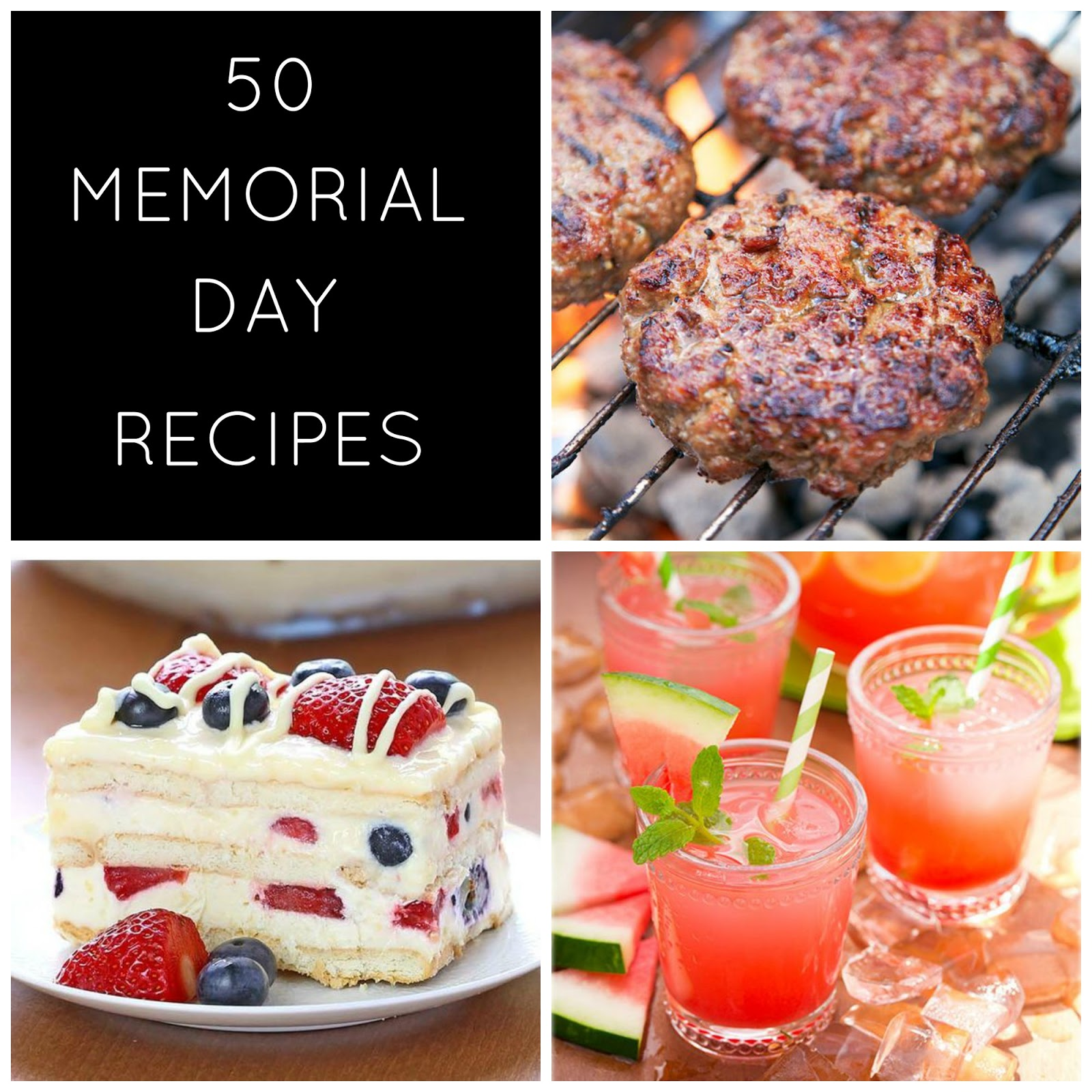 Enjoy these spring-themed recipes that highlight fresh fruits, meat, and desserts for your Memorial Day weekend!