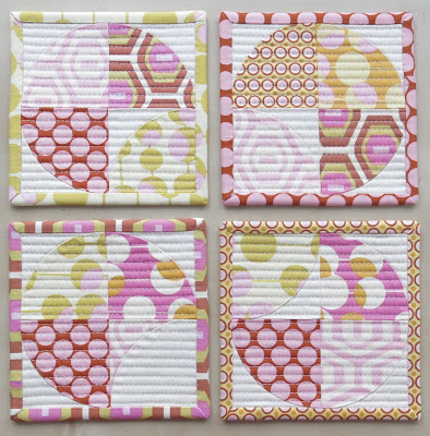Luna Lovequilts - Quilted coasters - Set of four