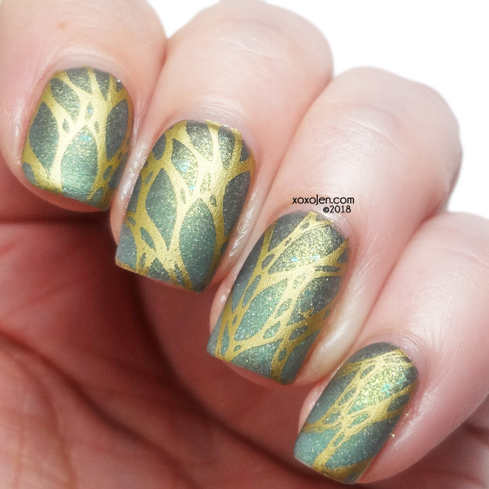 xoxoJen's swatch of Shimmer Box Nail Art