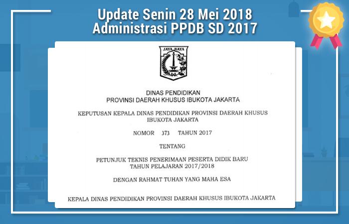 Update Senin 28 Mei 2018 Administrasi PPDB SD 2017