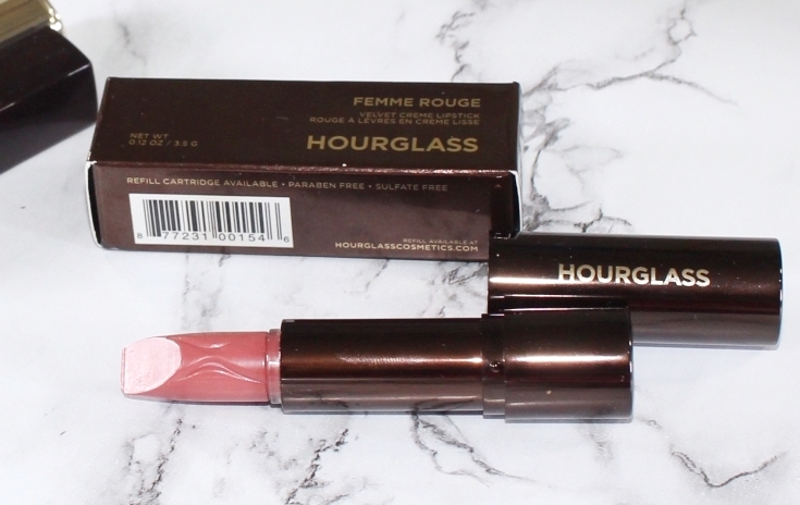 Swatches and review of Hourglass Femme Rouge Velvet Creme Lipstick in Mural.