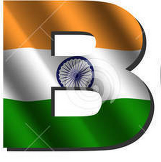 B letter tiranga, indian flag in alphabet B