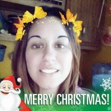 How add to Merry Christmas  your image in Facebook