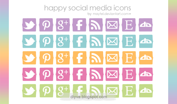 happy, icons, free, download, gratis, colors, maytel, facebook, twitter