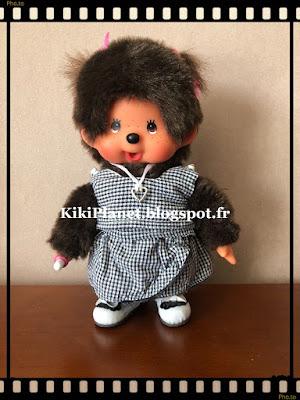 jupe paréo fait main, handmade, couture, poupée, kiki, monchhichi