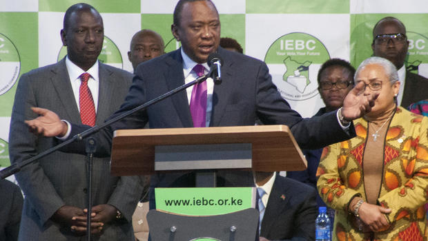 Kenyatta declared winner of Kenya election