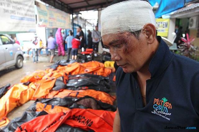 Genggaman Sang Istri Terlepas saat Digulung Tsunami Selat Sunda