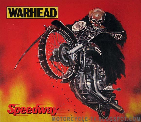 MOTORCYCLE 74: Speedway - Warhead - Record sleeve art