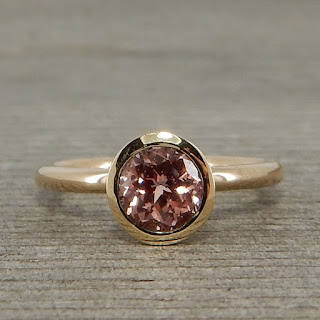 champagne sapphire ethical ring