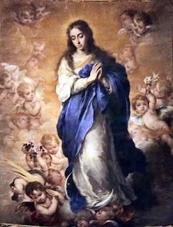 Inmaculada Concepción - Murillo - Óleo sobre tabla 1668 Sala Capitular de la Catedral SEVILLA