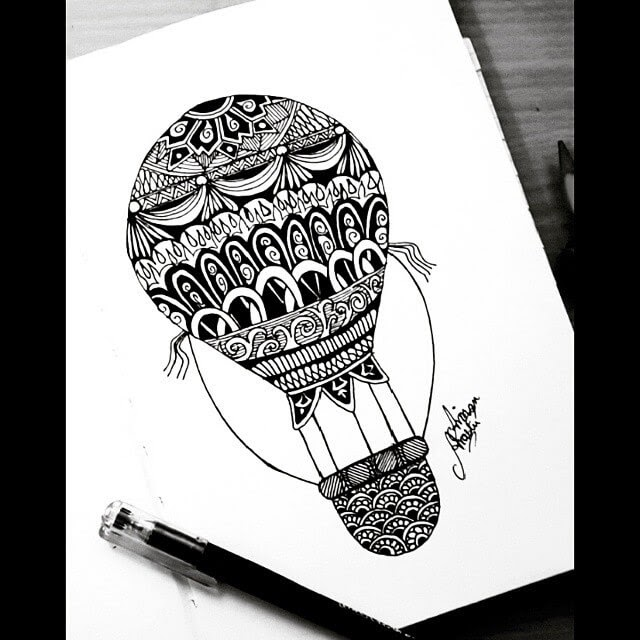 04-Hot-air-Balloon-Aiman-Arastu-Mandalas-Drawings-and-More-Art-www-designstack-co