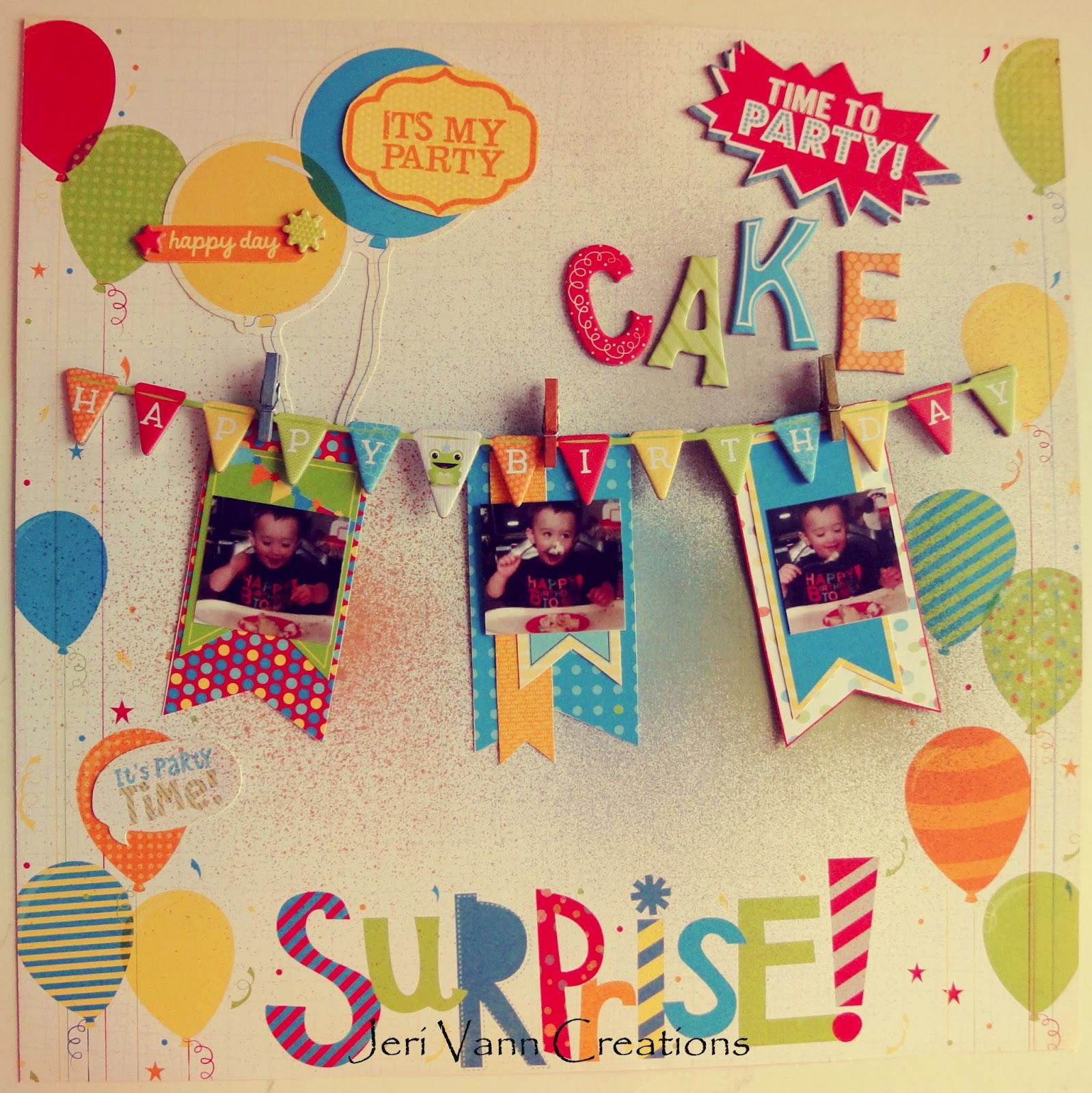 FotoBella: Surprise! Birthday Layout