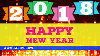 Floating fonts 2018 English wishes on New year EVENT celebration