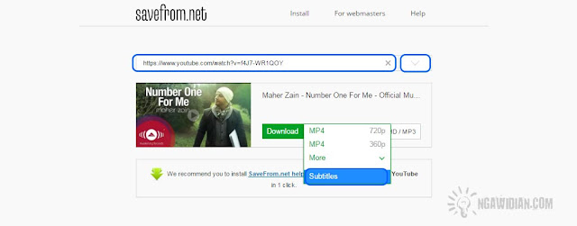 Download Subtitle Youtube Dari id.savefrom.net