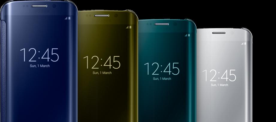 reputable site 301b6 57b7a Samsung Galaxy S6 & S6 Edge Clear View Flip Cover - Samsung Galaxy ...